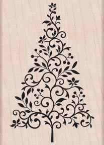 Hero Arts Rubber Stamp BRANCH AND FLOURISH TREE k5445 zoom image