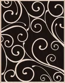 Hero Arts Rubber Stamp Designblock FLORENTINE PATTERN s5458 Preview Image