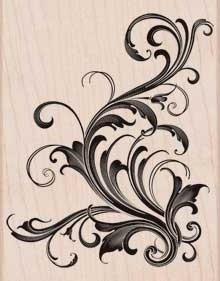 Hero Arts Rubber Stamp Designblock FABULOUS FLOURISH s5449 Preview Image