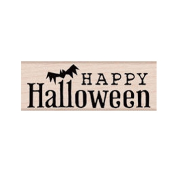 Hero Arts Rubber Stamp HALLOWEEN AND BAT c5464