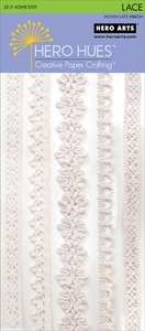 Hero Arts LACE RIBBON WHITE Adhesive ch232