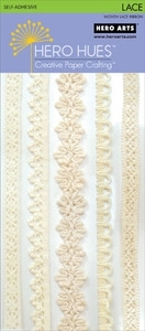 Hero Arts LACE RIBBON CREAM Adhesive ch233