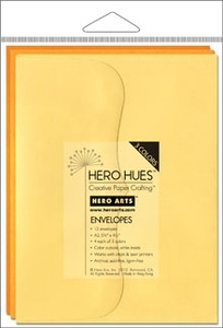 Hero Arts MIXED ENVELOPES SUNSHINE Yellow ps615