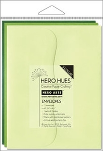 Hero Arts MIXED ENVELOPES FOLIAGE Green ps616
