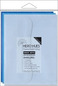 Hero Arts MIXED ENVELOPES SEA Blue ps617