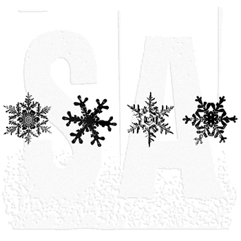 Tim Holtz Rubber Stamp SNOWFLAKE STRIP K6-1588 Stampers Anonymous