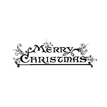 Tim Holtz Rubber Stamp MERRY CHRISTMAS J3-1570 Stampers Anonymous