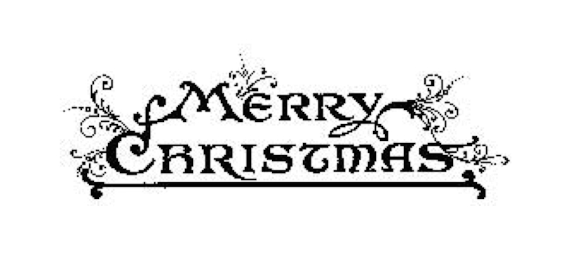 Tim Holtz Rubber Stamp MERRY CHRISTMAS J3-1570 Stampers Anonymous zoom image