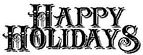 Tim Holtz Rubber Stamp HAPPY HOLIDAYS P6-1577 Stampers Anonymous