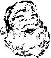 Tim Holtz Rubber Stamp TWINKLE SANTA Christmas K2-1575 Stampers Anonymous