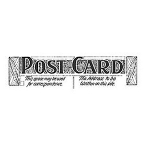 Tim Holtz Rubber Stamp POSTAGE 6 Six E3-1593 Post Card Stampers Anonymous Preview Image