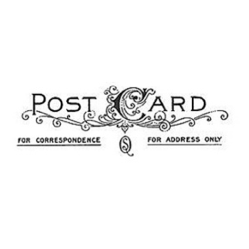Tim Holtz Rubber Stamp POSTAGE 7 Seven J5-1598 Post Card Stampers Anonymous Preview Image