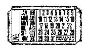Tim Holtz Rubber Stamp CALENDAR TICKET G2-1606 Stampers Anonymous Preview Image