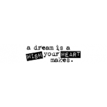 Tim Holtz Rubber Stamp WISH TEXT D7-1604 Ticket Stampers Anonymous