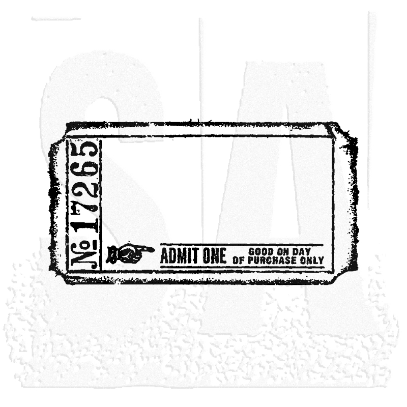 Tim Holtz Rubber Stamp BLANK TICKET G2-1605 Stampers Anonymous g2-1605 zoom image