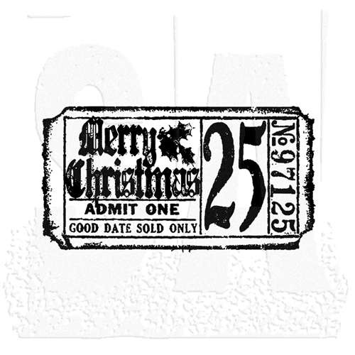 Tim Holtz Rubber Stamp CHRISTMAS TICKET Stampers Anonymous g2-1607 Preview Image