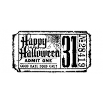 Tim Holtz Rubber Stamp HALLOWEEN TICKET G2-1608 Stampers Anonymous