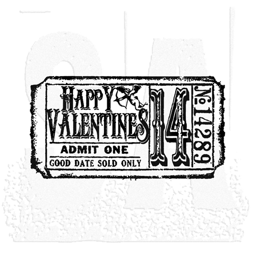 Tim Holtz Rubber Stamp VALENTINE'S TICKET G2-1610 Stampers Anonymous Preview Image