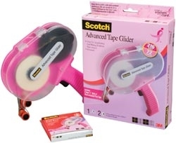3M Scotch PINK ATG ADVANCED TAPE GLIDER 0.25 Inch Adhesive Glue Gun CAT 085