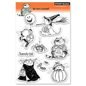 Penny Black Clear Stamps BE VERY SCARED 30-054