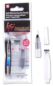Sakura KOI MEDIUM WATERBRUSH Water Brush Watercolor #6 xqr-m Preview Image