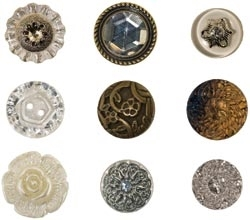 Tim Holtz Idea-ology FANCIFUL BUTTONS Accoutrements th92873 zoom image