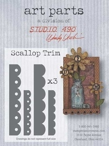Wendy Vecchi ART PARTS SCALLOP TRIM Studio 490*