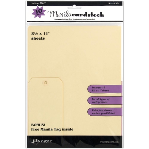 Ranger Inkssentials 8.5 X 11 MANILA CARDSTOCK Surfaces ISM28246 Preview Image