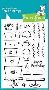 Lawn Fawn BAKE ME A CAKE Clear Stamps