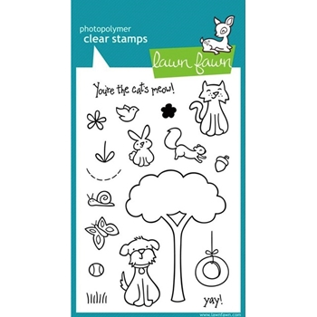 Lawn Fawn CRITTERS IN THE 'BURBS Clear Stamps
