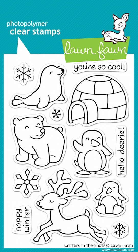 Lawn Fawn CRITTERS IN THE SNOW Clear Stamps zoom image