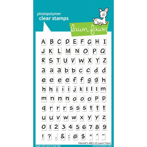 Lawn Fawn HAROLD'S ABC'S Clear Stamps Preview Image