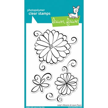 Lawn Fawn JUDY'S BLOOMS Clear Stamps