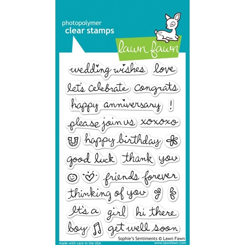 Lawn Fawn SOPHIE'S SENTIMENTS Clear Stamps Preview Image
