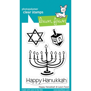 Lawn Fawn HAPPY HANUKKAH Clear Stamps