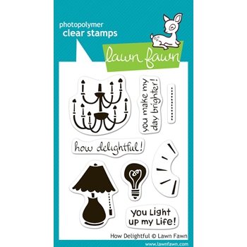 Lawn Fawn HOW DELIGHTFUL Clear Stamps