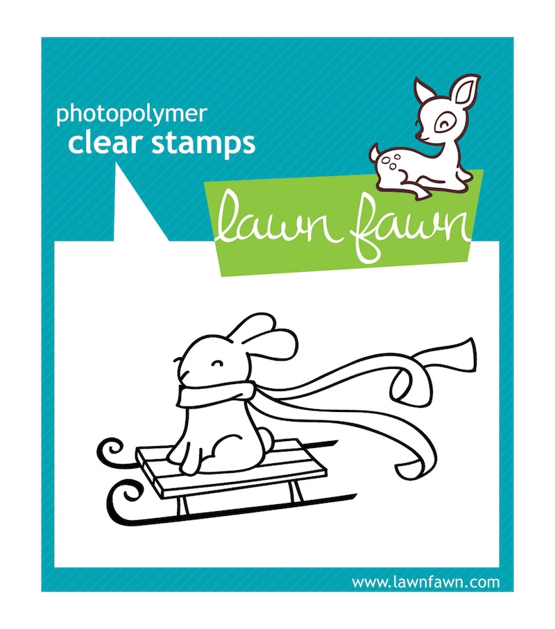 Lawn Fawn WINTER BUNNY Clear Stamp zoom image