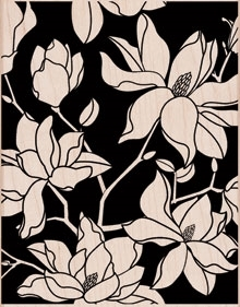Hero Arts Rubber Stamp Designblock LARGE FLOWER PATTERN S5471 Preview Image