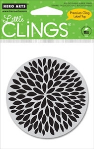 Hero Arts Cling Stamp SMALL SOLID FLOWER Rubber Unmounted CG251 zoom image