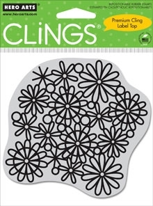 Hero Arts Cling Stamp FLOWER CUTOUTS Rubber Unmounted CG274