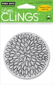 Hero Arts Cling Stamp SMALL OPEN FLOWER Rubber Unmounted CG250 Preview Image