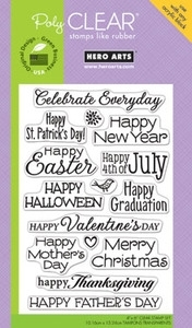 Hero Arts Clear Stamps CELEBRATE EVERYDAY CL498