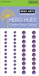 Hero Arts Bling ROYAL PURPLE GEMS Gemstones CH254