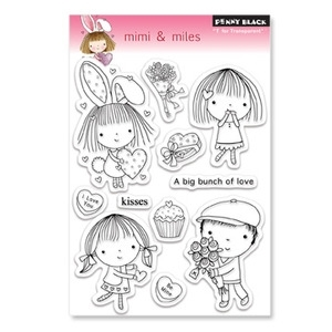 Penny Black Clear Stamps MIMI & MILES 30-063