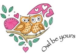 Penny Black Cling Stamp OWL BE YOURS Rubber Unmounted 40-045
