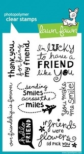 Lawn Fawn HELLO FRIEND Clear Stamps