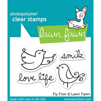 Lawn Fawn FLY FREE Clear Stamps