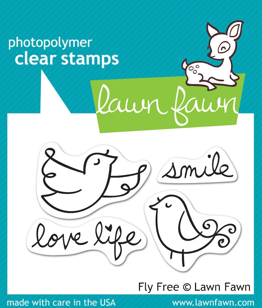 Lawn Fawn FLY FREE Clear Stamps zoom image
