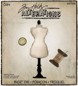 Tim Holtz Sizzix Die SEWING ROOM Dress Form Bigz Alterations 657186 Preview Image