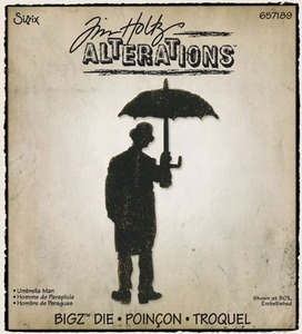 Tim Holtz Sizzix Die UMBRELLA MAN Bigz Alterations 657189 zoom image
